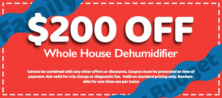 $200 Off Whole House Dehumidifier